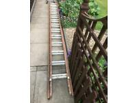 Ladder total length 22 ft Total 26 rungs