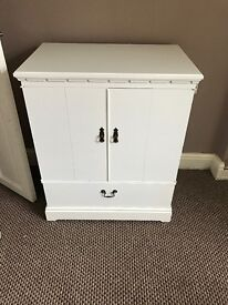 White by cabinet