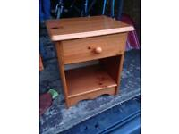 Small wood bedside cabinet