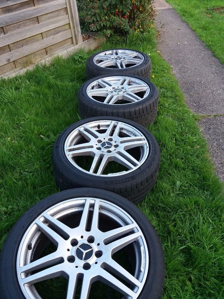 "AMG 18"" alloys with tyres"