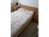 Double bed and cabinets