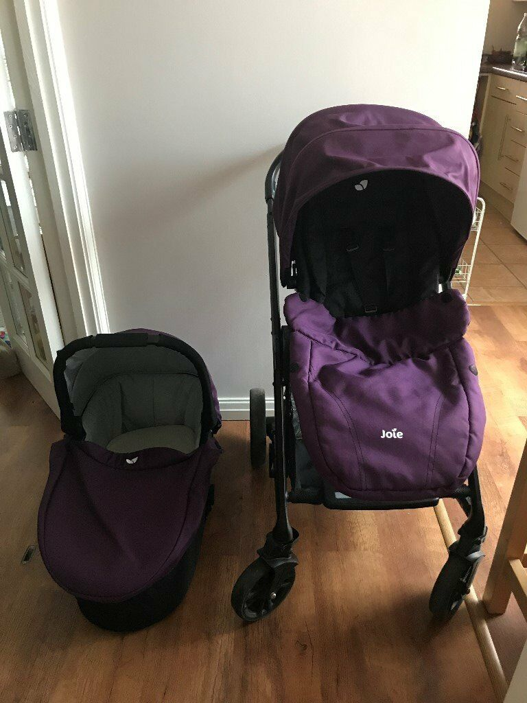 Joie Chrome Pushchair Travel System With Car Seat Base