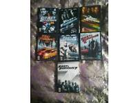ALL 7 FAST AND FURIOUS DVDS.