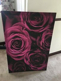 Large Purple Floral Picture