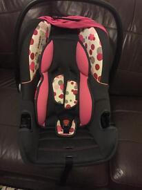 Kiddicare care seat used from new born