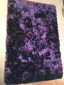 Beautiful Rich Purple Shaggy Rug