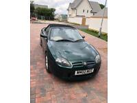 MGTF 1.8 Petrol Convertible with hard top also.
