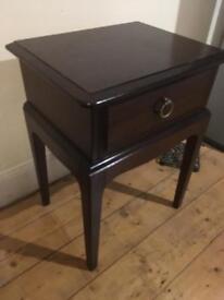 Dark brown side table