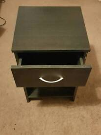 Wooden Black Bedside table (needs to be gone by 13th od march)