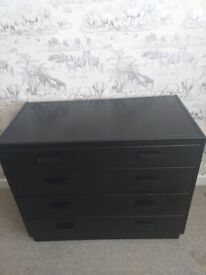 Vintage industrial style chest of drawers