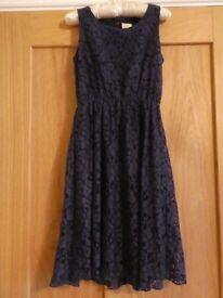 Yumi Navy Lace Dress Age 9-10