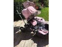 Beautiful bugaboo cam 3 pink and grey
