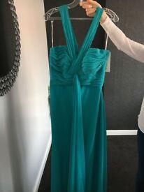 Pretty Maids Caribbean green Bridesmaid Dress Size 12
