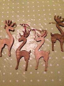 Handmade hanging reindeer