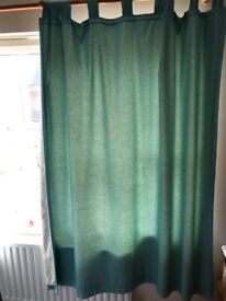 Blue next curtains