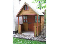 Kids garden Wendy house with veranda & mezzanine