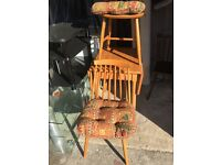 Small drop leaf table & two chairs