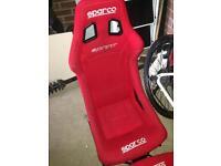 Sparco bucket seats