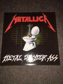 METALLICA LP RARE RECORD METAL UP YOUR ASS PURPLE VINYL AS NEW MINT CONDITION CAN POST UK