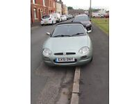 MGF sports convertible, metallic green. excellent condition well maintained