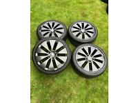 "18"" VW Caddy Golf Touran GTI Alloy Wheels Tyres"