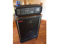 200w Peavey Centurian Bass Amp and HH cabinet.