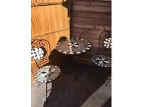 Vintage garden table and chairs