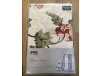 "Floral lined curtains. 66x90"" New"