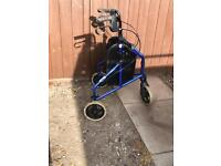 Mobility walker frame 3 wheel Zimmer frame great condition