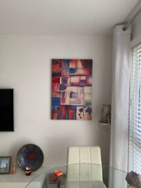 Hand painted wall art contemporary