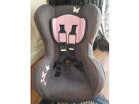 girls stage 2 car seat, 9-18 kg, forward facing, reclines