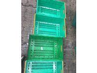 Quality Std Balearm crates in green for £3 each minimum order taken 50 , 600 x 400 x 200 mm deep