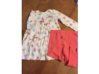 9-12m girls M&Co outfit