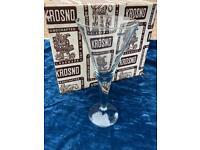 Set of 6 unused Vintage Krosno handcrafted wine glasses