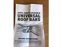 Anti theft lockable roof bars