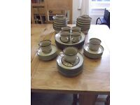 Denby SAVOY - 50 pieces of retro dinnerware from the 1980s - averages £6 per piece