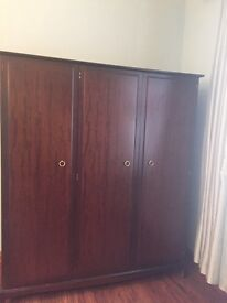 3 dr wardrobe. Excellent condition. In sections for easier carrying and easy to put back together