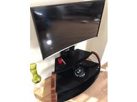 Led 40 curved Samsung + tv stand