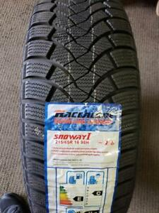 4 winter tires nes with stickers 215/65r16 new new