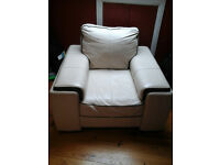 DFS Leather Arm Chair