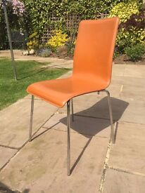 Bonded Leather Tan Dining Room Chairs x 8