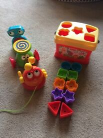 Fisher Price shape sorter and pull along robot toy