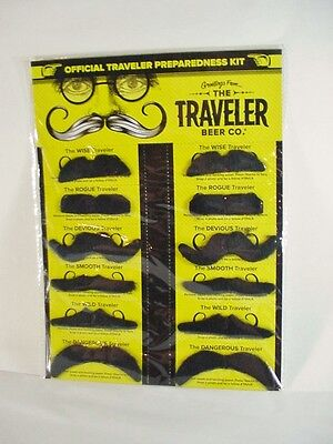 THE TRAVELER BEER CO.  3 Fake Mustache Kits 36 Mustaches New for Your Party - The Fake Mustache