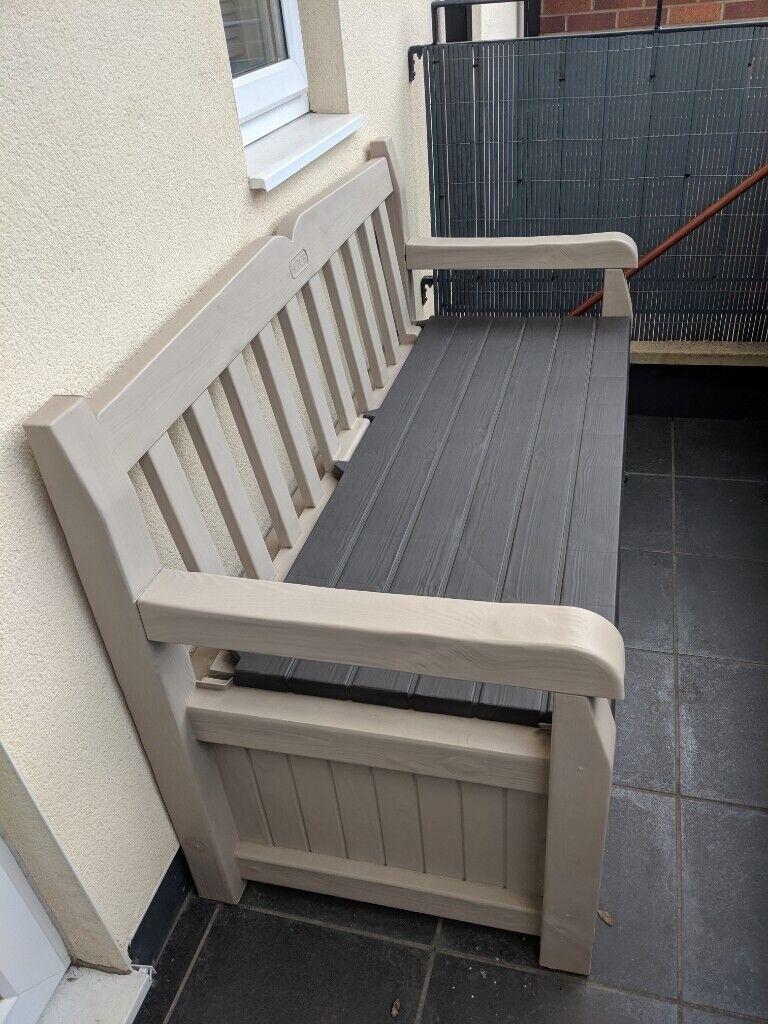 Remarkable Keter Eden Garden Storage Bench In Exeter Devon Gumtree Andrewgaddart Wooden Chair Designs For Living Room Andrewgaddartcom