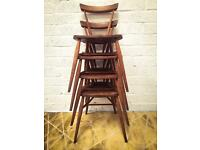 Original vintage Ercol stacking chairs.