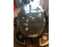 Oriental Coffee table with 6 Side tables
