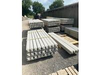 REINFORCED 8FT CONCRETE FENCING POSTS - NEW