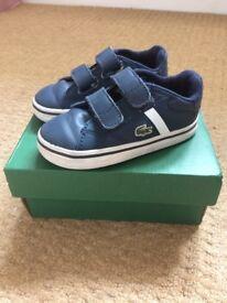 Lacoste trainers size 5 infants