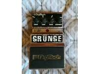 Digitech grunge fuzz/distortion guitar effects pedal