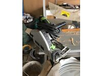 Festool plunge saw, extractor and guides